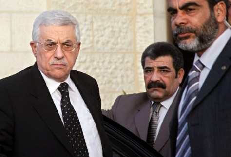 Image: Palestinian President Mahmoud Abbas, left.