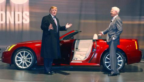 Donald Trump and Gm's Bob Lutz introduce Cadillac XLR-V