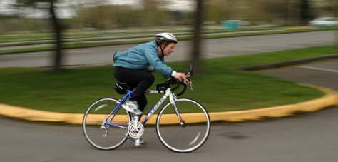 Image: Denise on her bike