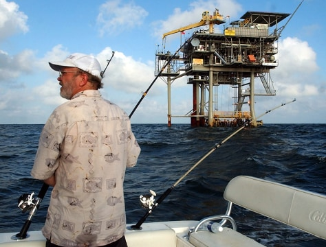 NATURAL GAS RIG IN GULF OF MEXICO