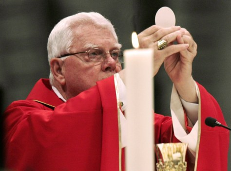 US Cardinal Bernard Law presides over a Mass in the Vatican's St. Peter's Basilica