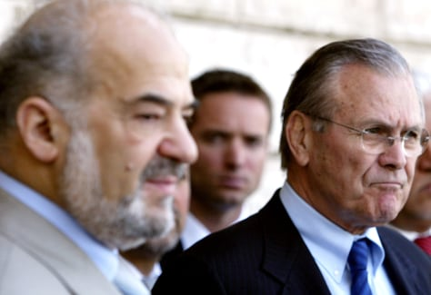 Image: Jaafari and Rumsfeld in Baghdad