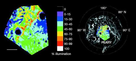 Illumination map of moon