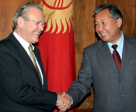 IMAGE: Rumsfeld and Bakiyev