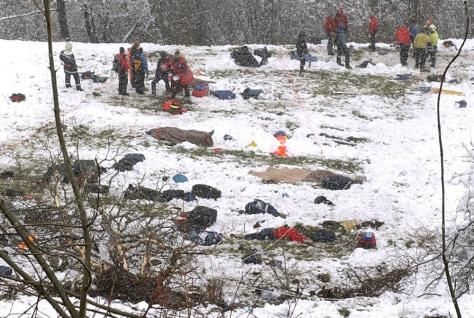 Image Swiss bus crash aftermath