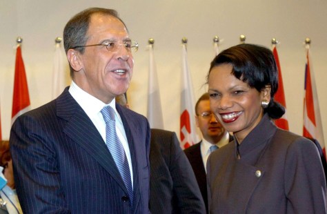 IMAGE: Rice and Lavrov