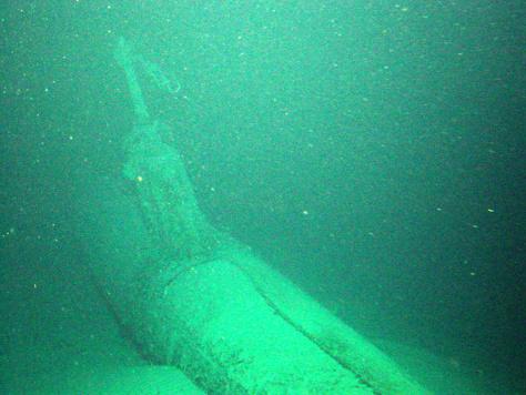 IMAGE: Sunken submarine off Hawaii