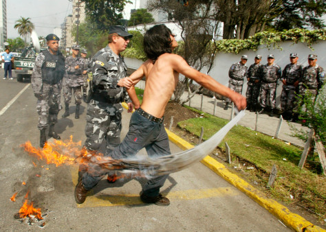 IMAGE: Protester in Quito