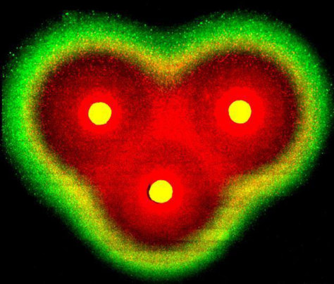 Image: Bacteria assembled into a heart shape.