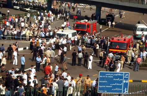 Image: Site of Cairo explosion.