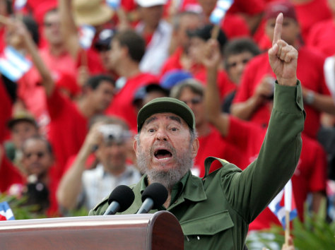 Image: Fidel Castro on May Day