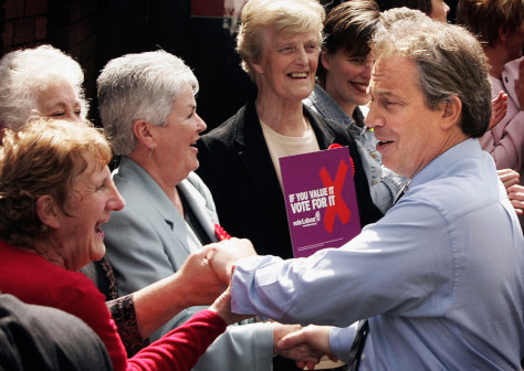 Blair Continues The Election Campaign In The Northwest