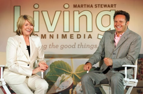 Martha Stewart appears with Mark Burnett