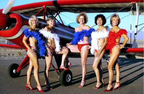 Nude flight attendant calendar photo 83
