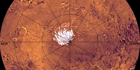 Image: Viking view of Martian south pole
