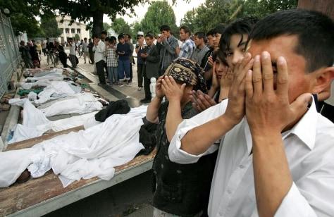 Image: Uzbek mourners