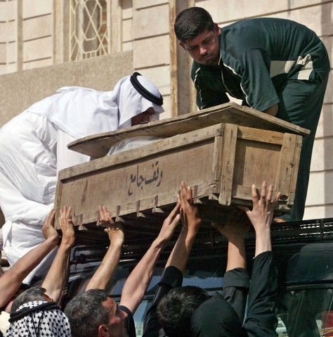 IMAGE: Slain Iraqi official's coffin