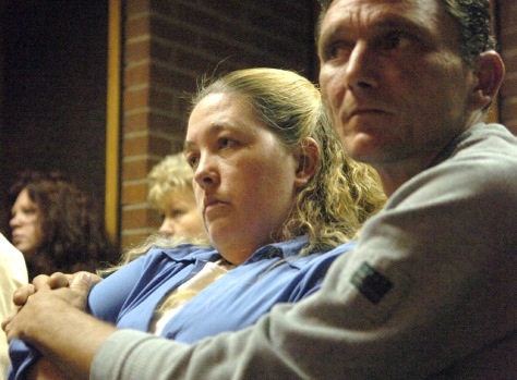 Victim's daughter and son-in-law listen to closing arguments