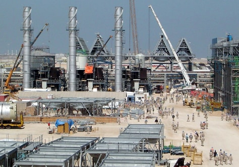 IMAGE: CONSTRUCTION SITE FOR CLEAN DIESEL PLANT IN QATAR