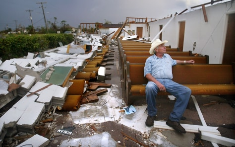 Church Destroyed by Hurricane Charley Moves On