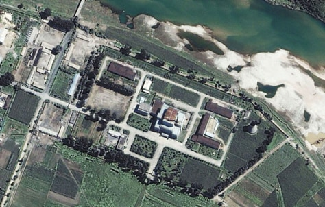 File space Imaging satellite image of Yongbyon Nuclear Site in North Korea