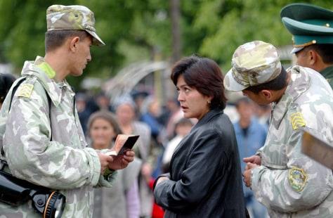 IMAGE: Uzbek border guards