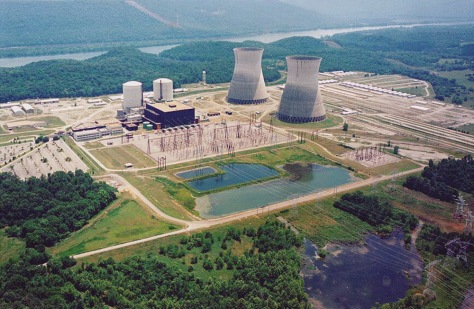 Image: Nuclear power plant in Scottsboro, Alabama
