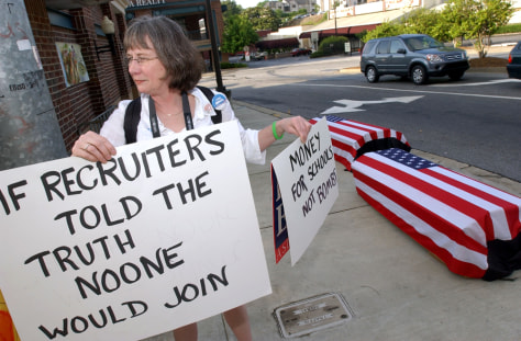 Demonstrators Protest Army Recruiting Practices