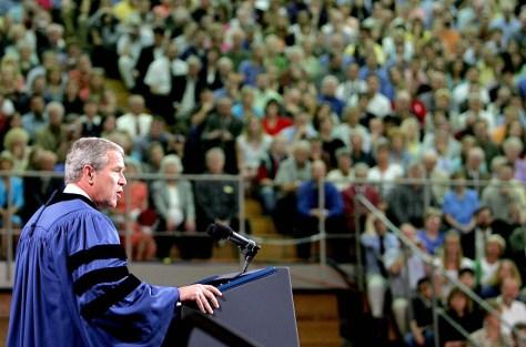 Image: Bush at Calvin College