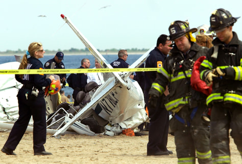Image: Coney Island plane crash
