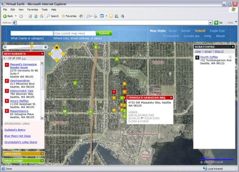 screenshot of MSN Virtual Earth