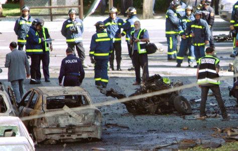 Image: Madrid car bomb scene.