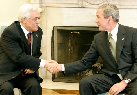 IMAGE: President Bush And Palestinian President Abbas