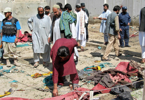 IMAGE: Afghan bombing aftermath