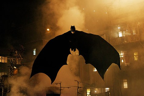 "Christian Bale dons the Batsuit in the latest incarnation of the Caped Crusader, ""Batman Begins."""