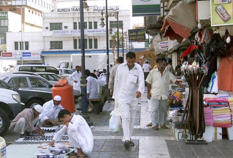 IMAGE: SAUDIS ON STREET