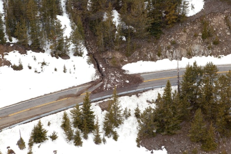 IMAGE: ROAD HIT BY SLIDE
