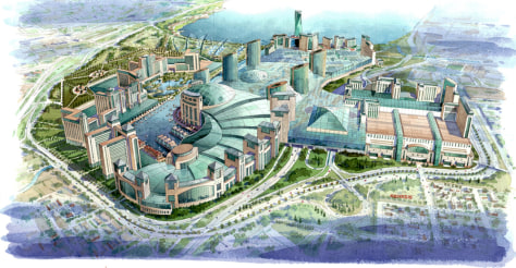 IMAGE: AERIAL ILLUSTRATION OF MALL PROJECT