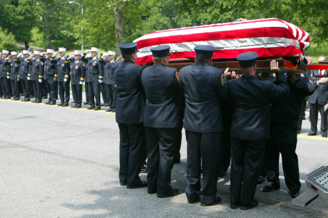 IMAGE: Firefighter's funeral