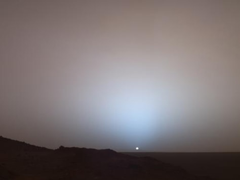Image: Martian sunset
