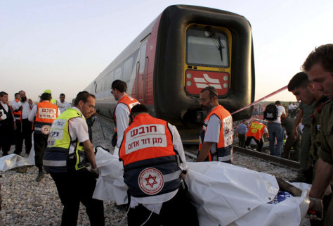 Image: Israel train crash