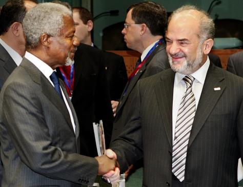 Image: Kofi Annan with Ibrahim Jaafari