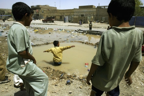 IMAGE: Muddy pool in Baghdad