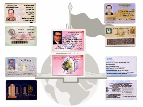 IMAGE: ID CARDS SAID TO BE OF EGYPTIAN ENVOY