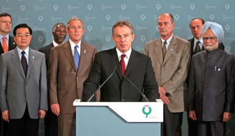 Image: Tony Blair with G8 leaders.