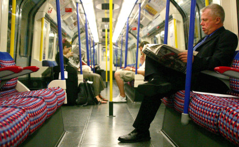 Image: Passengers on London Underground.