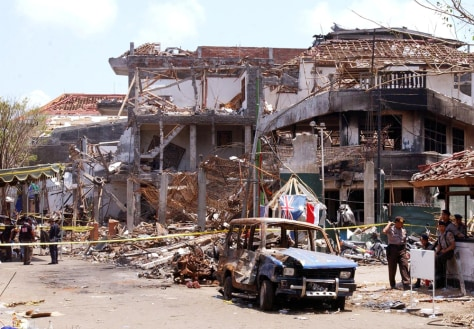 Image: 2002 Bali blast aftermath