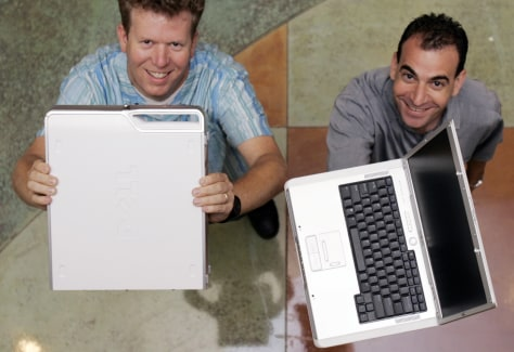 Image: Dell industrial designers and new computer models.