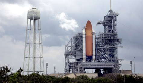 The space shuttle Discovery sits 14 July