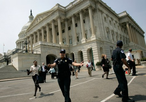 White House, Capitol Evacuated